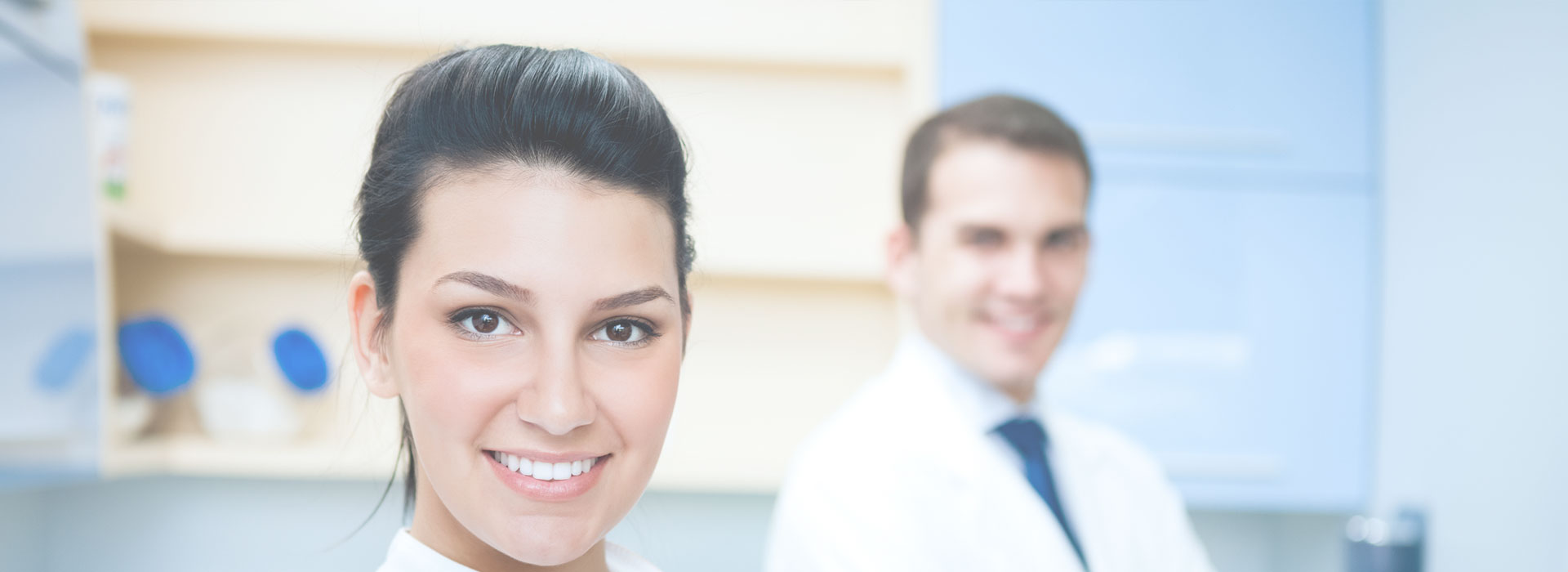 Dentist smiling at dental